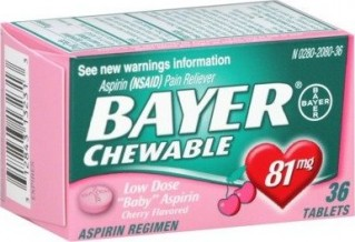BAYER CHERRY CHEWABLE LOW DOSE ASPRIIN 81MG TABS - 36 CT