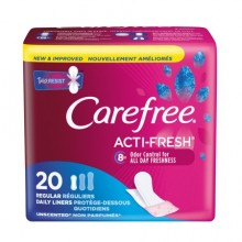 CAREFREE ACTI FRESH PANTILINERS REGULAR UNSCENTED TO GO  20 CT (NT)