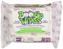 BOOGIE WIPES GENTLE FOR STUFFY NOSES SIMPLY UNSCENTED 30 CT