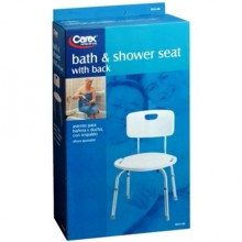CAREX BATH & SHOWER SEAT W/BACK