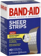 BAND AID SHEER ALL ONE SIZE 40 CT