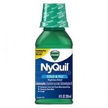 VICKS NYQUIL COLD & FLU MENTHOL 8 OZ