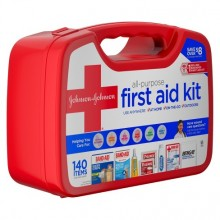 JOHNSON & JOHNSON RED CROSS ALL PURPOSE FIRST AID KIT 140 ITEMS