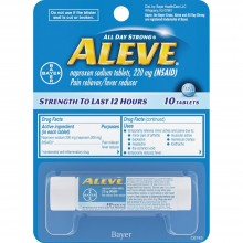 ALEVE PAIN & FEVER REDUCER TABLETS VIAL - 10 CT