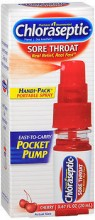 CHLORASEPTIC SORE THROAT SPRAY POCKET PUMP CHERRY - 20 ML