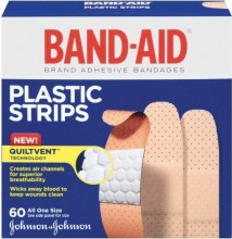 BAND AID PLASTIC FAMILY PACK 60 CT