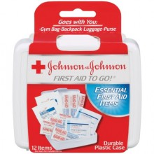 JOHNSON & JOHNSON FIRST AID TO GO KIT - 12 CT