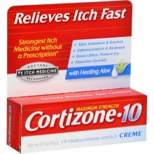 CORTIZONE 10 MAXIMUM STRENGTH ANTI ITCH CREME & ALOE 0.5 OZ