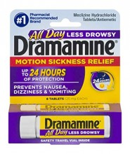 DRAMAMINE TABS 8CT ALL DAY LESS DROWSY
