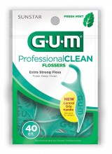 GUM PROFESSIONAL CLEAN FLOSSERS MINT - 40 CT