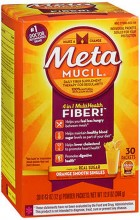 METAMUCIL SMOOTH TEXTURE ORANGE SINGLE DOSE - 30 PACKETS