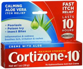 CORTIZONE 10 MAXIMUM STRENGTH ANTI ITCH CREME WITH ALOE 1 OZ