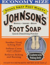 JOHNSON'S FOOT SOAP - 8 CT