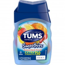 TUMS SMOOTHIES EXTRA STRENGTH 750 ASST. FRUIT - 12  CT