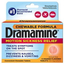 DRAMAMINE CHEW TABS 8CT ORANGE