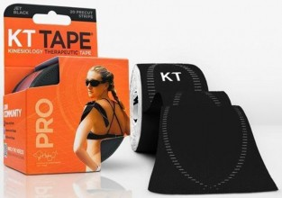 KT TAPE SYNTHETIC PRO KINESIOLOGY TAPE BLACK - 20 CT