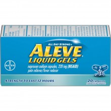 ALEVE PAIN & FEVER REDUCER LIQUID GELS - 20 CT