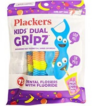 PLACKERS KIDS FLOSSERS DUAL GRIP 75CT