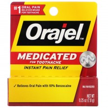 ORAJEL ORAL PAIN RELIEVER REGULAR - 0.25 OZ