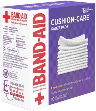 BAND-AID CUSHION CARE GAUZE PAD 3X3 10CT