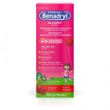 BENADRYL CHILDREN'S ALLERGY LIQUID CHERRY 4 OZ
