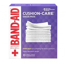 BAND-AID CUSHION CARE GAUZE PAD 2X2 10CT